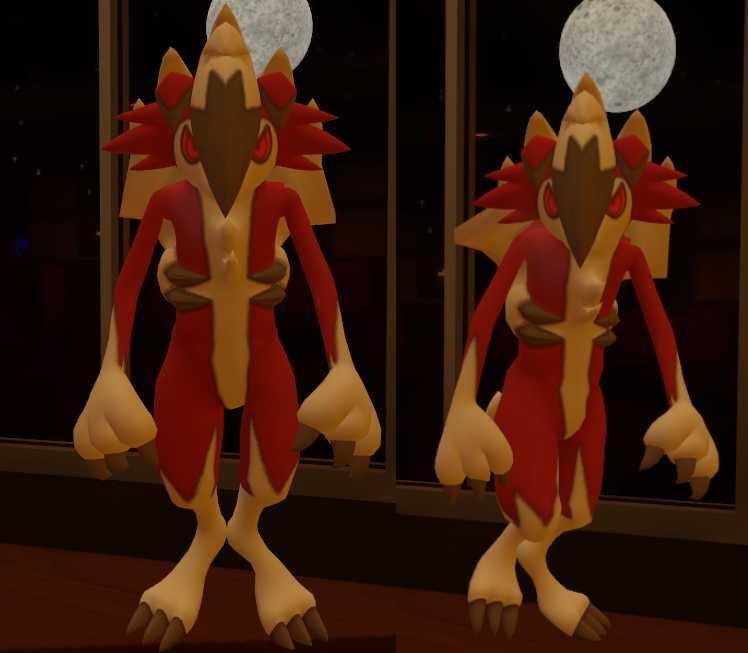 VRCMods - Upright Midnight Lycanroc (Pokemon Sun/Moon