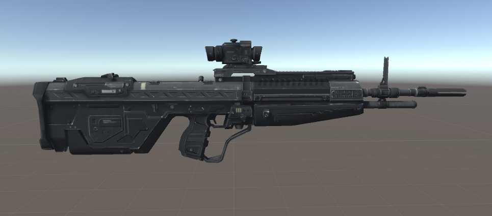 VRCMods - Halo Reach DMR [No Shooting Animation] - VRChat