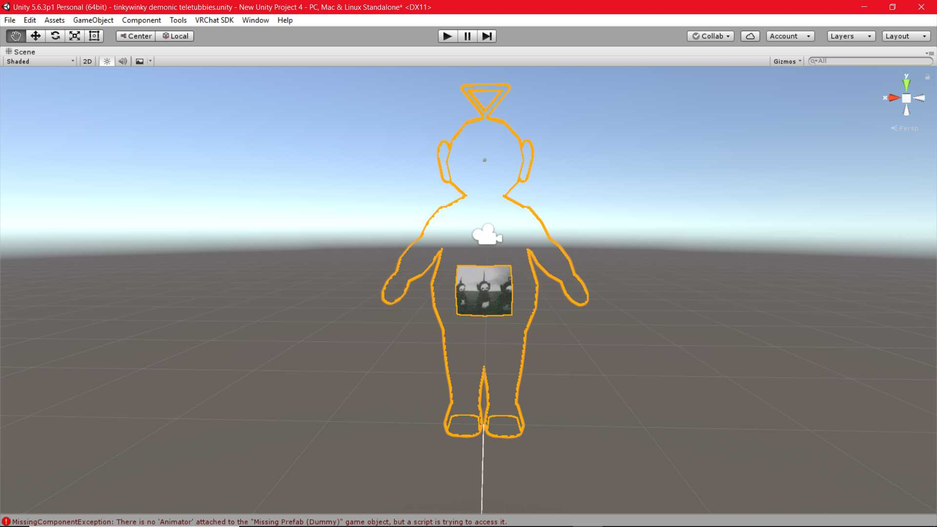 VRCMods - Tinky Winky Ghost (demonic teletubbies) - VRChat Avatars