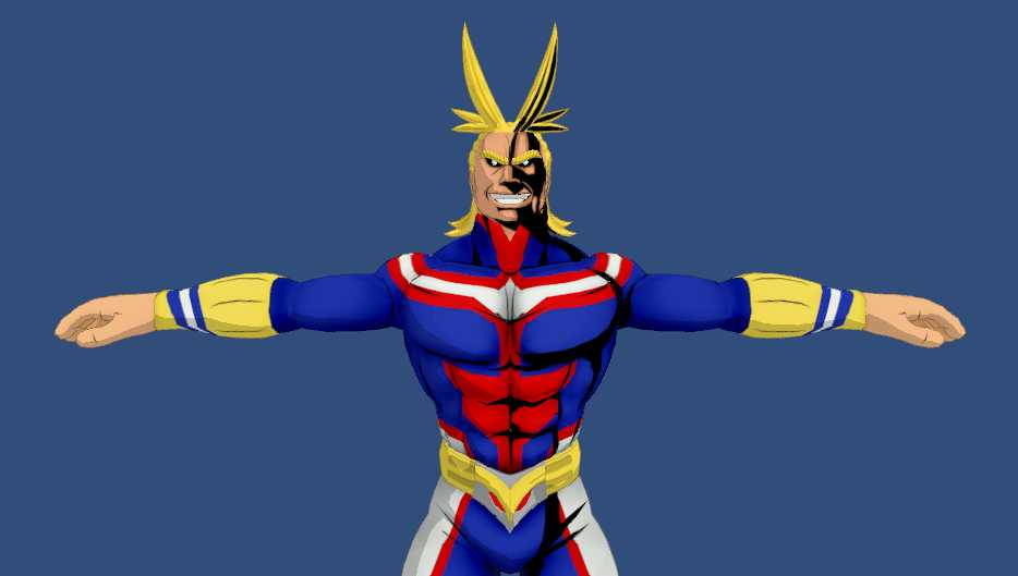 VRCMods - All Might (11K Polygons, Dynamics, Visemes, Animations