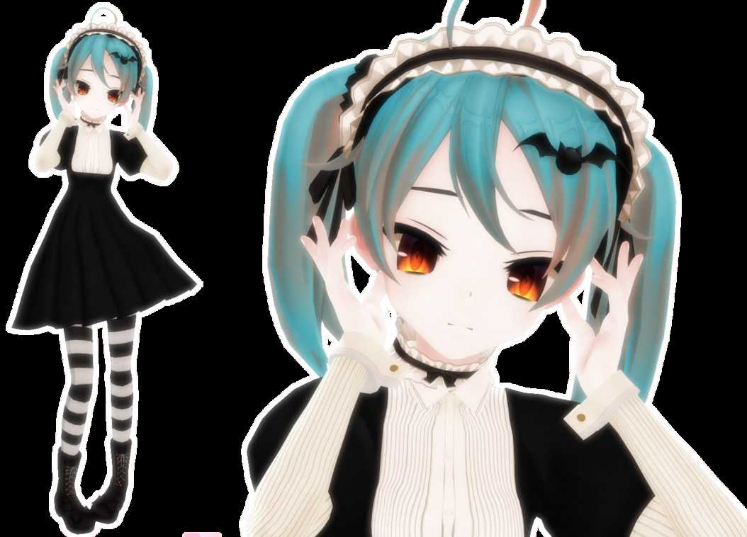 VRCMods - Halloween Miku (Dynamic Bones, Lip Sync, Tracking, and