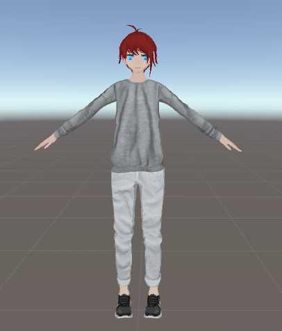 VRCMods - Anime boi customizable top pants hair eyes