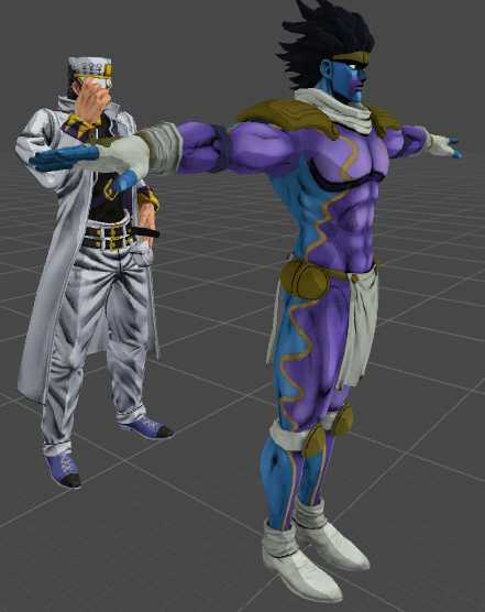 VRCMods - Jotaro Kujo Part 4 with Star Platinum - VRChat Avatars
