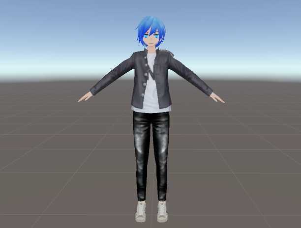 VRCMods - Anime boi customizable top pants hair eyes   - VRChat Avatars