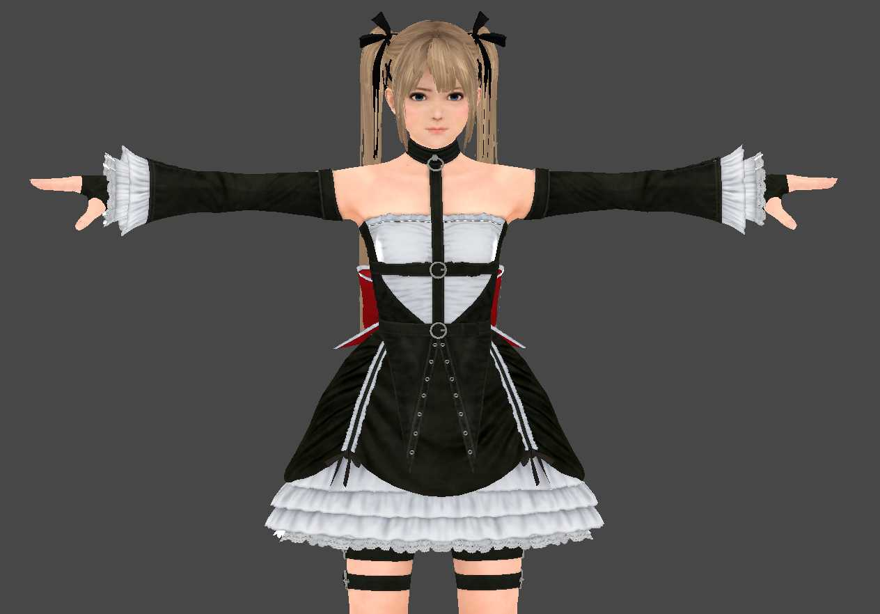 VRCMods - Marie Rose (99k polygon, Face movement) - VRChat