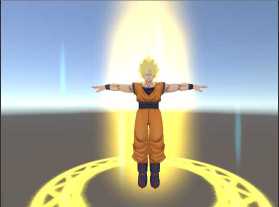 VRCMods - Goku Super Sayajin with Aura particles - VRChat Avatars