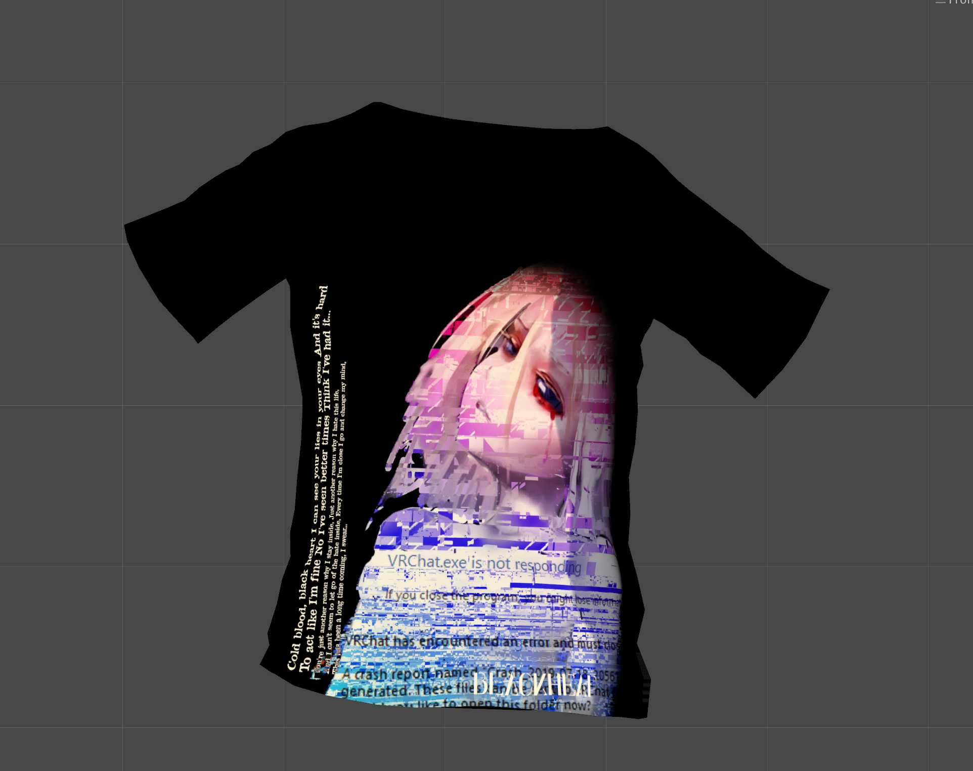 VRCMods - [Shirt] BlackHeart 1 - VRChat Avatars