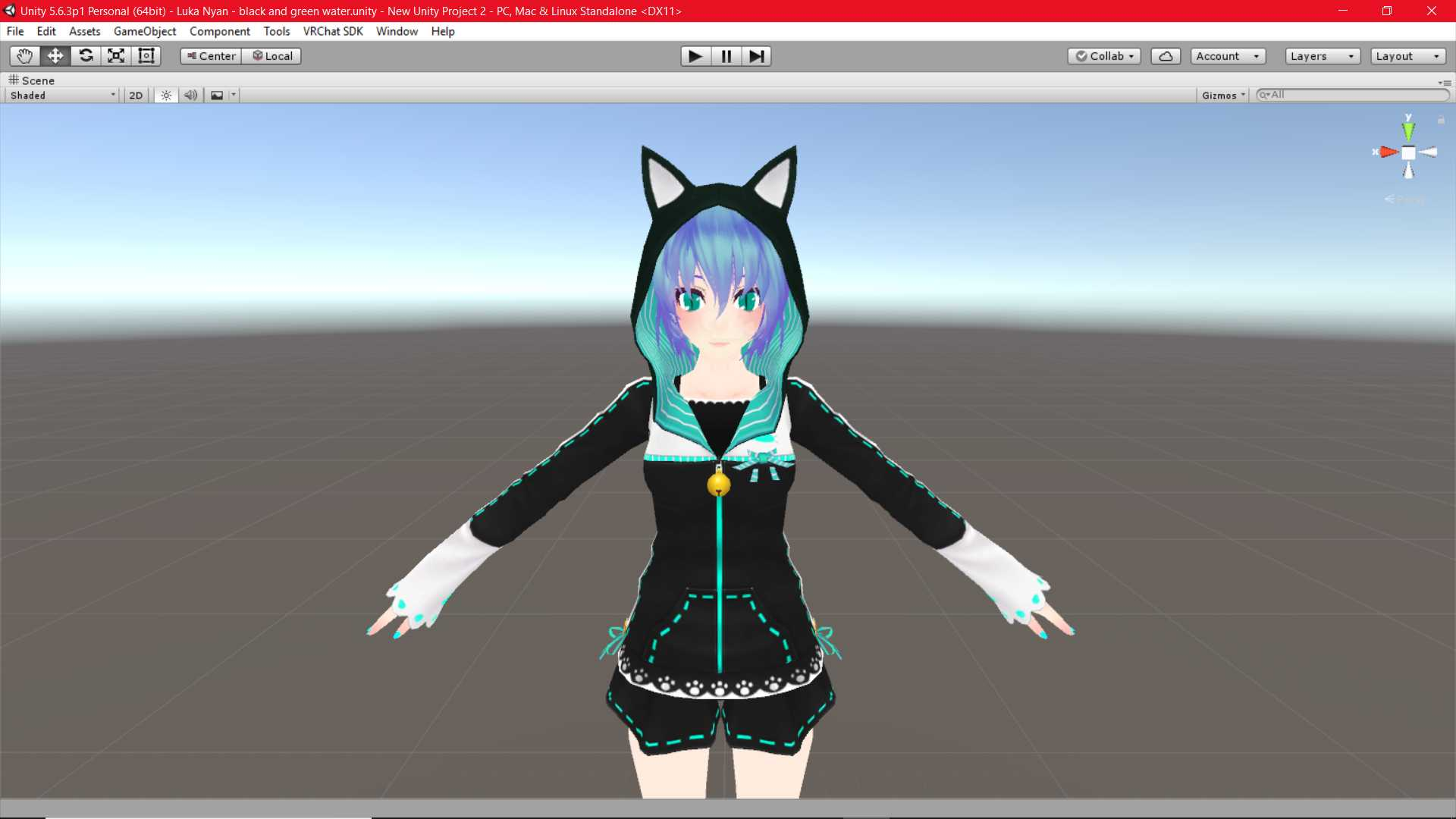 VRCMods - Luka Nyan - black and green water(modified model) - VRChat